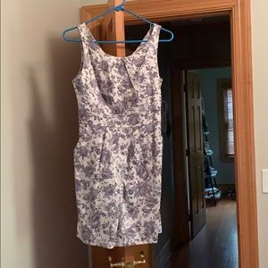 Gray Floral Cocktail Dress